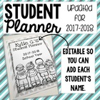 2014 - 2014 Student Planner with Editable Pages