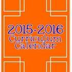 2014-2015 Editable Curriculum Planning Calendar {Chevron B