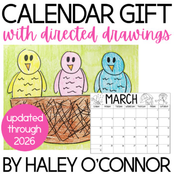 2014-2015 Family Calendar and Directed Drawings