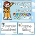 Winter Sports Playdough Mats
