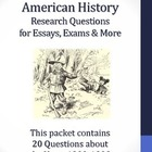 20th Century American History - 1900-1909 - 20 Research Questions