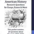 20th Century American History - 1920-1929 - 20 Research Questions