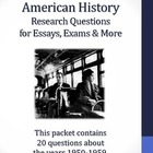 20th Century American History - 1950-1959 - 21 Research Questions