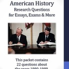 20th Century American History - 1980-1989 - 22 Research Questions