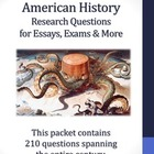 20th Century American History - 210 Research Questions Bundle