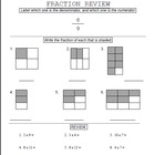 21 Fractions Worksheets