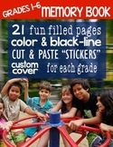 21 Magazine Style Memory Book Pages - Covers in color and