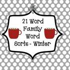 21 Word Families Word Sorts to use at Literacy Centers ~ W