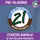 21st Century Pre-Algebra Project Bundle -- Common Core Aligned