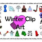 23 Pieces of Winter Clip Art - Large