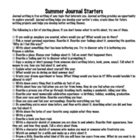 24 Awesome Summer Journal Starters