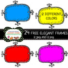 24 FREE Elegant Frames for Personal and commercial Use