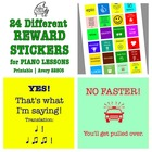 24 Printable Reward Stickers for Piano & Music Lessons