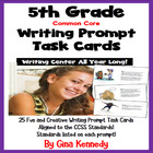 "25 Common Core 5th Grade ""Writing Prompt"" Task Cards, Stan"
