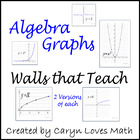 27  Algebra / PreCalcius Basic/Parent Graphs-Walls That Teach-