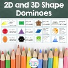 2D & 3D Shape Attribute Dominoes