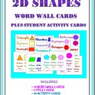 2D Geometric Shapes Word Wall Cards and Student Activity Cards