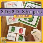 2D Shapes Unit {Reader, Printables, Posters, Flashcards, BINGO}