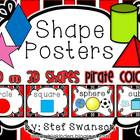 Shape Posters 2D and 3D {Pirate Colors}