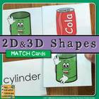 2D and 3D Shapes Flashcards