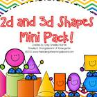 2D and 3D Shapes Mini Pack!  A Common Core Aligned Shapes Pack!