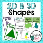 2D and 3D Shapes Unit for 2nd and 3rd Grade Common Core
