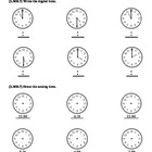 (2.MD.7 & 2.MD.8)Time & Money -2nd Grade Common Core Math