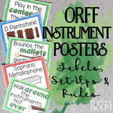 Orff Posters: Labels, Set-Ups and Rules