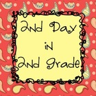 2nd Day in 2nd Grade - Writing & Math Activities