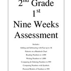 2nd Grade 1st Nine Weeks Assessment