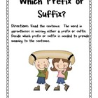2nd Grade Common Core Camping Prefixes & Suffixes