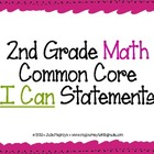 "2nd Grade Common Core ""I Can"" Statements for Mathematics"