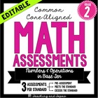 2nd Grade Common Core Math Assessment -Numbers and Operati