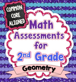 Common Core Math Assessments for 2nd Grade - Geometry (Gra
