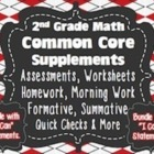 2nd Grade Common Core Math Bundle {Assessments, Writing Re