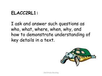 2nd Grade Common Core Reading Standards for Posting--Repti