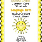 2nd Grade Common Core Standard for Language Arts: Teacher/