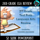 2nd Grade English Language Arts Review PowerPoint and Test Prep