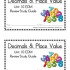 2nd Grade Everyday Math: Unit 10- Decimals &Place Value St