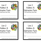 2nd Grade Everyday Math: Unit 2 Addition &Subtraction Fact