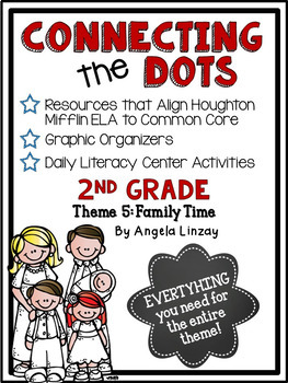 2nd Grade Houghton Mifflin Theme 5: Common Core, Graphic Organizers, & Daily 5