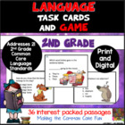 2nd Grade Language Task Cards (and Game!)