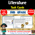 2nd Grade Literature Task Cards (and Game!)