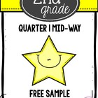 2nd Grade Math Assessment: Mid-Way 1st Quarter