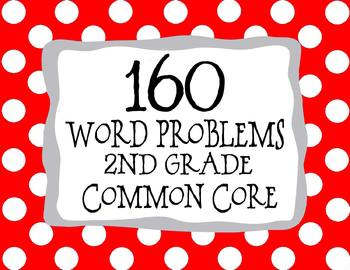 2nd Grade Math CCSS Problem Solving 160 Word Problems *All Standards*