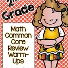 2nd  Grade Math Common Core Review Warm-Ups