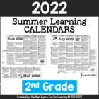 2nd Grade NO PREP Summer Activity Calendars for 2014 {CCSS