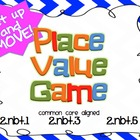 "2nd Grade Place Value ""Get up and MOVE game"" (Common Core"