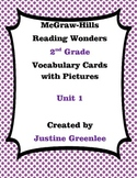 2nd Grade Reading Wonders Vocabulary Cards with Definition