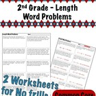 2nd Grade Length Word Problems - Common Core 2.MD.5